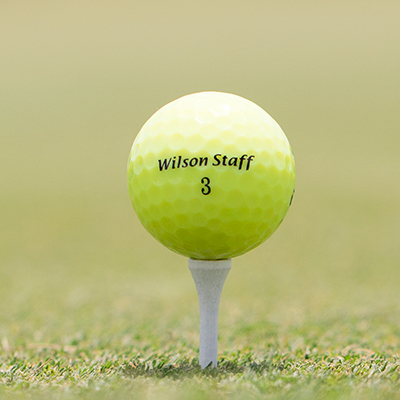 WILSON<sup>®</sup> Duo Optix<sup>®</sup> Yellow Golf Balls - Set of 12, high-visibility, yellow golf balls.  The Duo line offers a performance double take with high C.O.R. for longest distance and low 29 compression for a softer feel.