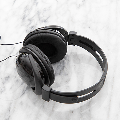 SUNSCOPE<sup>&reg;</sup> Foldable Headphones - Experience clean sound and bass delivered by these easy to transport, foldable headphones.  They can also connect to your smart device or tablet via 3.55 mm jack, not included.