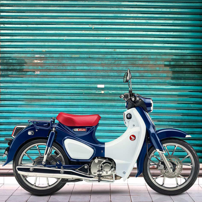 HONDA<sup>®</sup> Super Cub C125 ABS - Great for day-to-day transportation or just riding enjoyment, the Super Cub C125 ABS celebrates the legendary Super Cub heritage. Features a air-cooled single-cylinder four-stroke engine, helical primary gear and high-quality crank-journal bearing for noise reduction, steel frame, high-density urethane seat and more. LED lighting adds a modern touch. One-channel ABS standard.